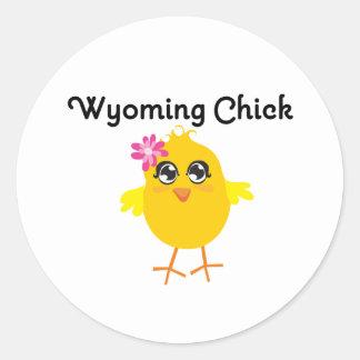Wyoming Chick Round Stickers