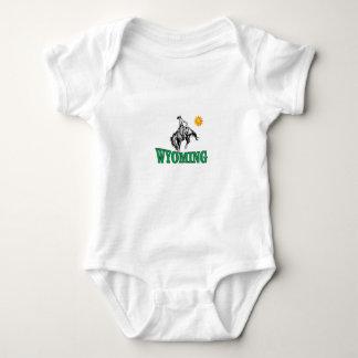 Wyoming cowboy baby bodysuit