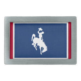 Wyoming Cowboy Bronco Belt Buckle