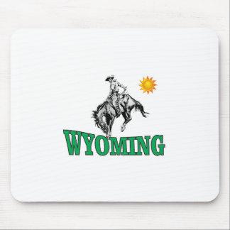 Wyoming cowboy mouse pad