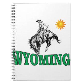 Wyoming cowboy spiral notebook