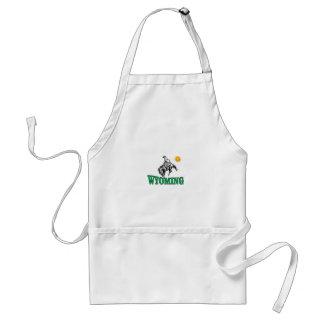 Wyoming cowboy standard apron