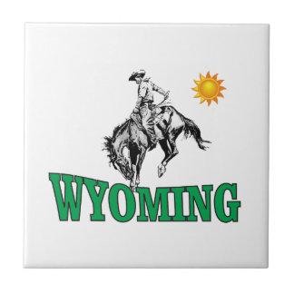 Wyoming cowboy tile