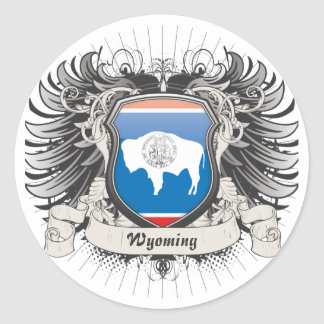 Wyoming Crest Round Sticker