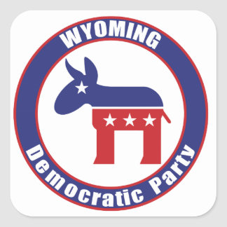 Wyoming Democratic Party Square Stickers