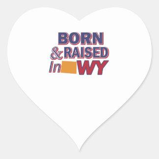 Wyoming design heart sticker