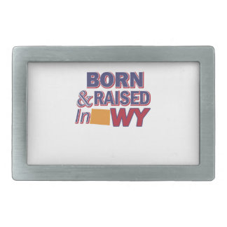 Wyoming design rectangular belt buckles