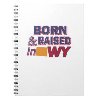 Wyoming design spiral notebook