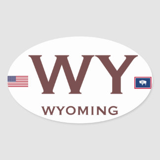 WYOMING*- European Style Oval Sticker