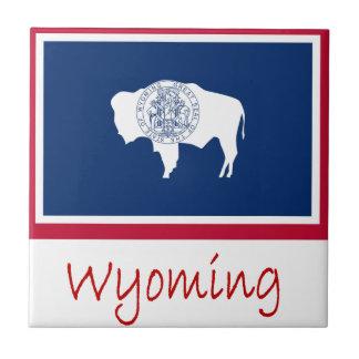 Wyoming Flag And Name Tile