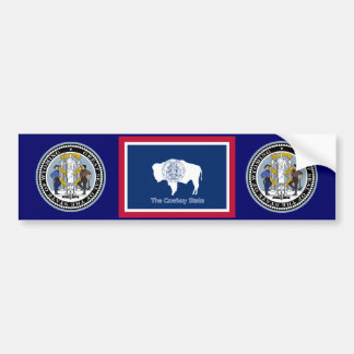 Wyoming Flag Bumper Sticker