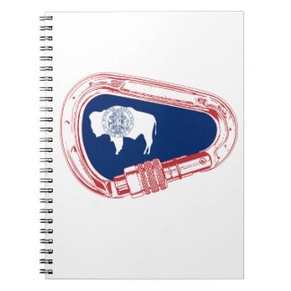 Wyoming Flag Climbing Carabiner Spiral Notebook