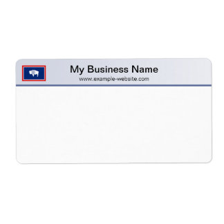Wyoming Flag Header Shipping Label