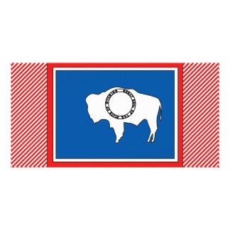 Wyoming Flag Map Photo Greeting Card