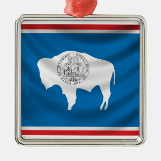 Wyoming Flag Metal Ornament