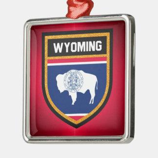 Wyoming Flag Metal Ornament