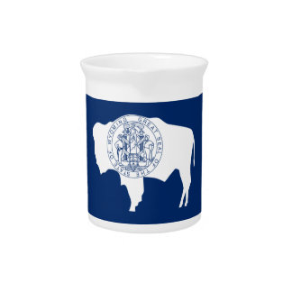 Wyoming Flag Pitcher