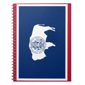 Wyoming Flag Spiral Notebook
