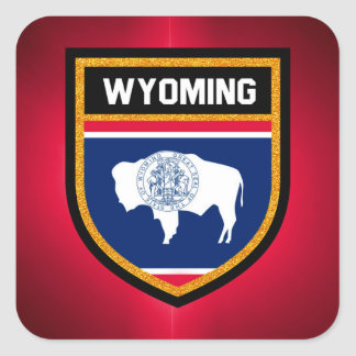 Wyoming Flag Square Sticker