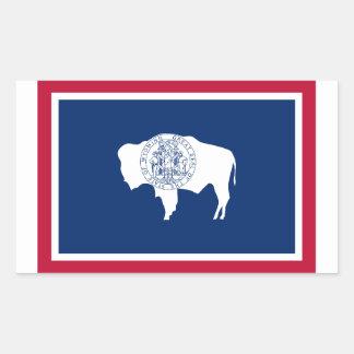 Wyoming Flag Rectangle Sticker