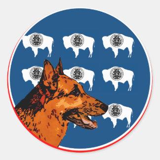 Wyoming German Shepherd Sticker
