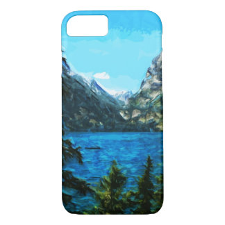 Wyoming Grand Teton Mountains Abstract iPhone 8/7 Case