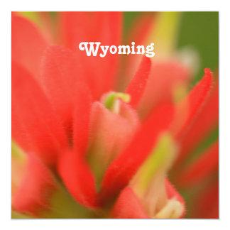 Wyoming Indian Paintbrush Custom Invite