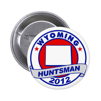 Wyoming Jon Huntsman Pinback Button
