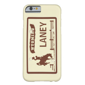 Wyoming License Plate Barely There iPhone 6 Case