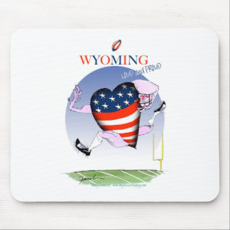 Wyoming loud and proud, tony fernandes mouse pad