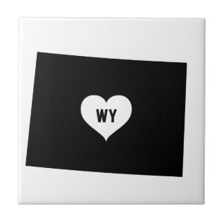 Wyoming Love Ceramic Tile