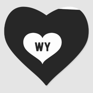 Wyoming Love Heart Sticker