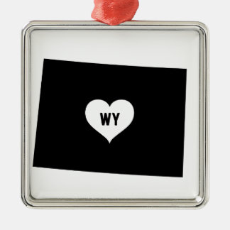 Wyoming Love Metal Ornament