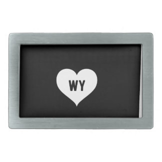 Wyoming Love Rectangular Belt Buckles
