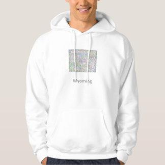 Wyoming map hoodie