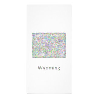 Wyoming map photo cards