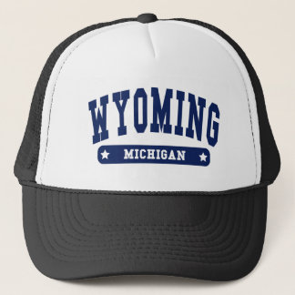 Wyoming Michigan College Style tee shirts Trucker Hat