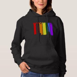 Wyoming Michigan Gay Pride Rainbow Skyline Hoodie