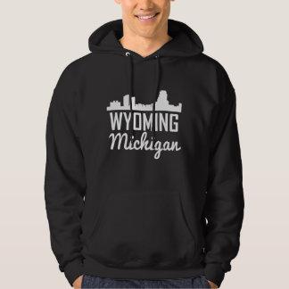 Wyoming Michigan Skyline Hoodie