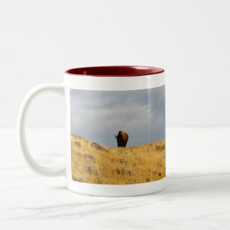 Wyoming Mug-Buffalo 2 Two-Tone Coffee Mug