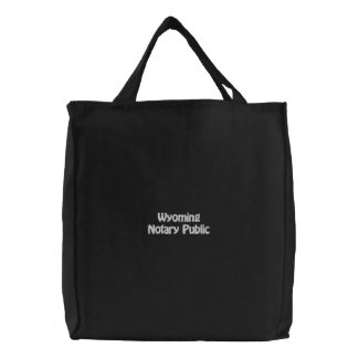 Wyoming Notary Public Embroidered Bag