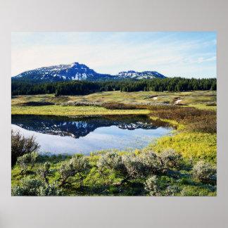 Wyoming, Rocky Mountains, A mountain peak Poster