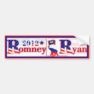 Wyoming Romney and Ryan 2012 Bumper Sticker