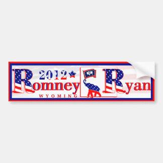 Wyoming Romney and Ryan 2012 Bumper Sticker 3