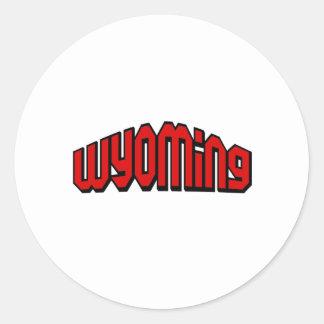 Wyoming Round Stickers