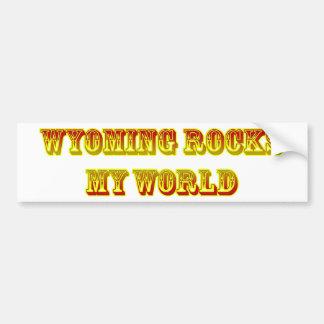 wyoming rules car bumper sticker
