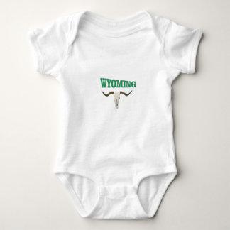 Wyoming skull baby bodysuit