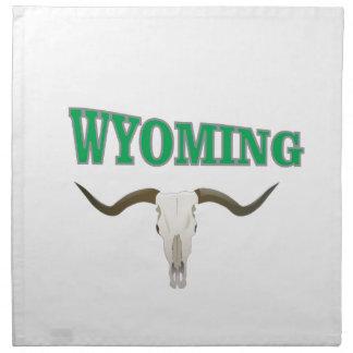 Wyoming skull napkin