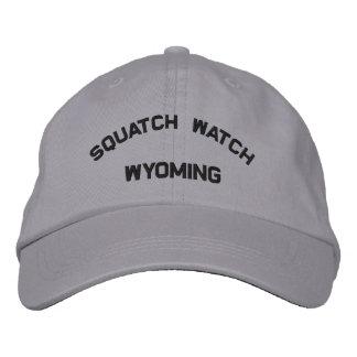 Wyoming Squatch Watch Embroidered Cap