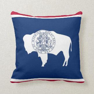 Wyoming State Flag American MoJo Pillow